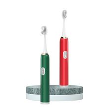 Elektryczna szczoteczka do zębów dla dorosłych miękkie włosie w pełni automatyczna męska bateria damska podstawowa wodoodporna wyciszona soniczna szczoteczka do zębów tanie tanio 400 ml Metal CN (pochodzenie) Naczynia do picia Babies Electric Toothbrush Others No Match Found