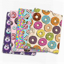 Retalhos donuts bolo poliéster tecido de algodão para tecido crianças costura estofando tecidos bordado material diy, c14064