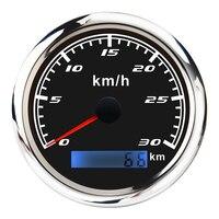 Marine Car Digital Speedometer Gauge 0 30 km/h Pulse Signal