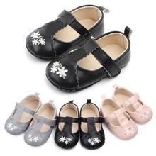 Baby Girls Shoes Spring Autumn Newborn First walkers Shoes Infant Flower PU Leather Shoes Soft Sole Crib Shoes 0-18M недорого