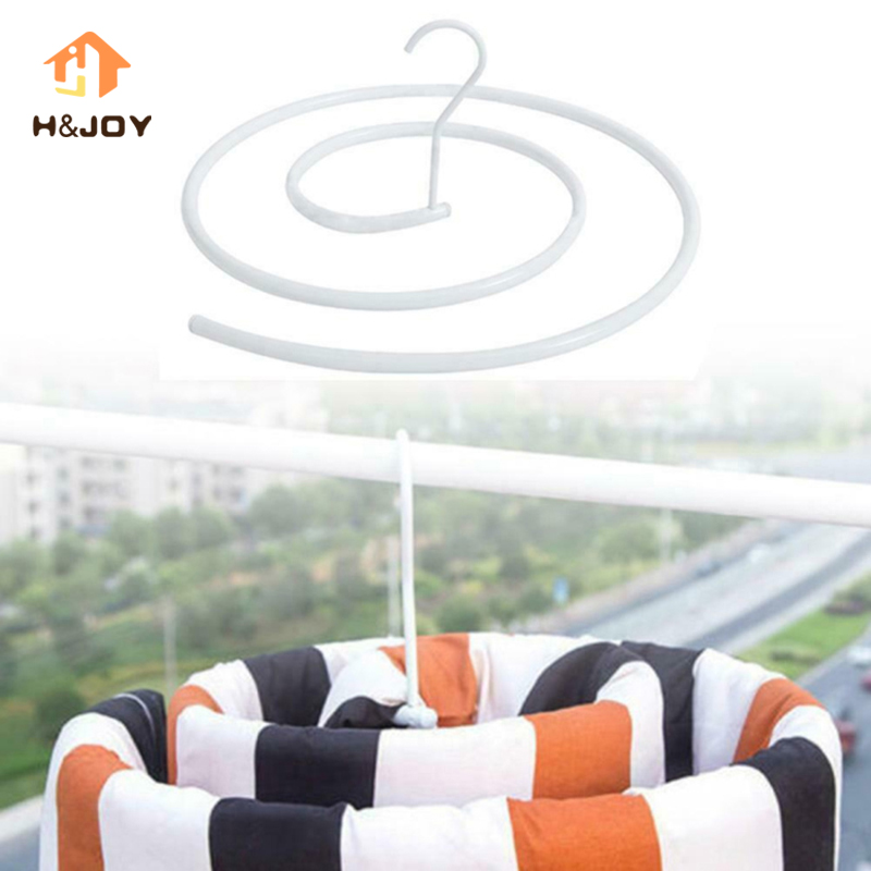 Spiral Blanket Hanger Round Shaped For Outside Indoor Balcony Space Saving Rotating Quilt Storage Rack Round Hanger Drying Rack