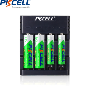 Image 5 - PKCELL Battery Charger for AA/AAA Rechargeable Batteries 1.2v NiCd NiMh Battery charger with 4Slots LCD Display Usb Cable