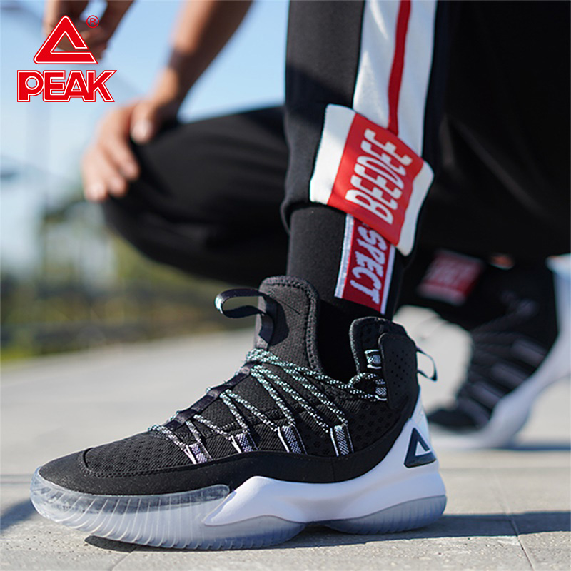 PEAK Cushioning Basketball-Shoes Mesh-Sneakers Non-Slip Gym-Training Men Breathable
