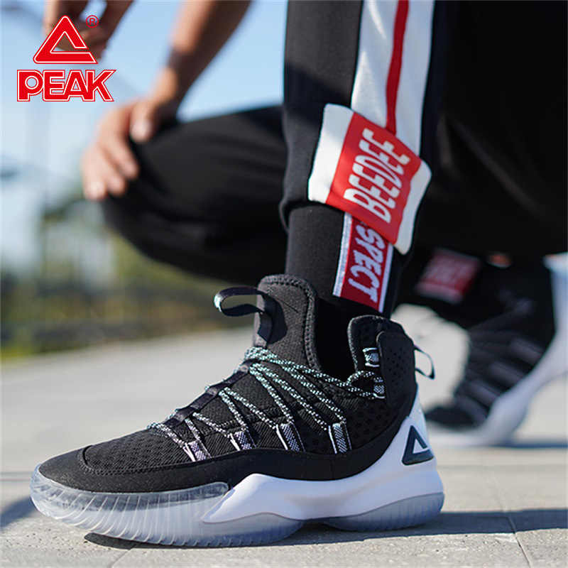PEAK Men Basketball Shoes Breathable Cushioning Mesh Sneakers Non-slip wearable Sports Shoes Gym Training Athletic Shoes