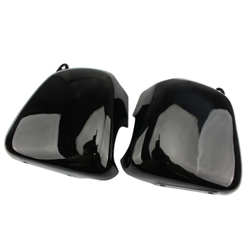 Motorcycle Battery Cover Left Right Side Fairing Battery Covers Gloss Black for Triumph Bonneville T100 SE Thruxton 900 Scramble