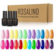 ROSALIND Nail Polish Set 24Pcs Varnishes Hybrid Soak Off UV Gel LED Semi Permanent Coat For Nail Art Design Manicure Varnishes