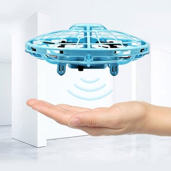 Helicopter Ufo Aircraft Automatic Induction Sensor Flying Saucer Mini Drone Kids Gift Three Color
