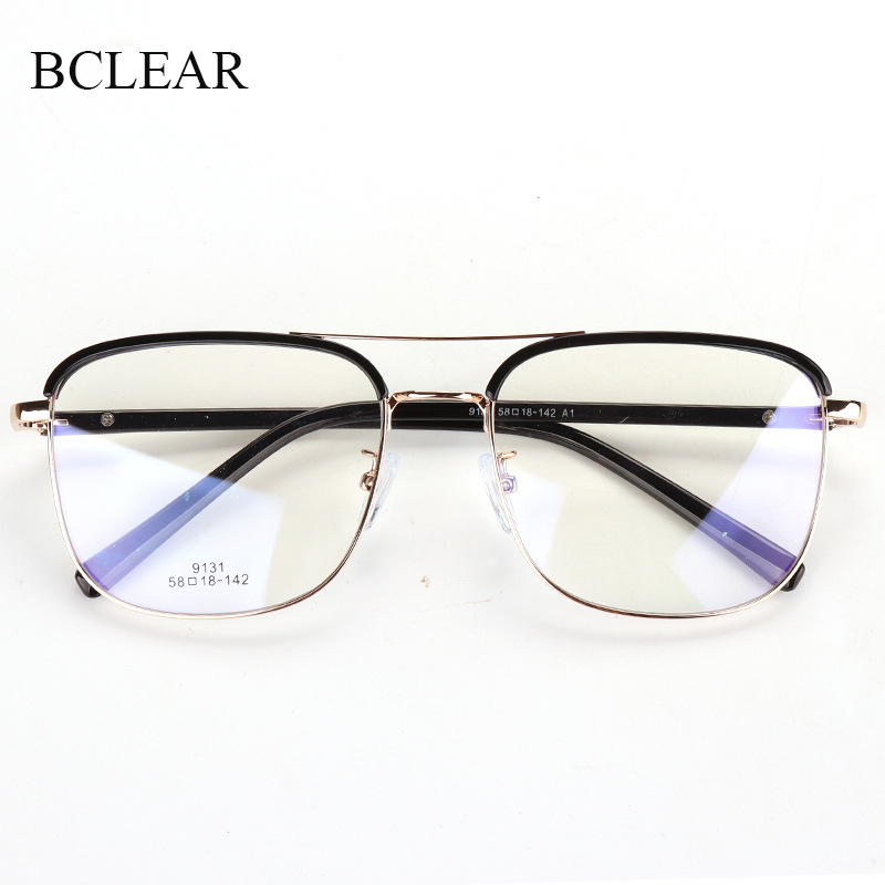 New Arrival Vintage Eyebrows Big Square Glasses Frames Men Women Brand Designer Double Bridge Optical Eyeglasses Fashion Eyewear