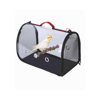 1KG Portable Bird Cage Macaw Bag with Wooden Standing Stick Foldable Breathable Bird Bag Two-way Ventilation Parrot Cage 2