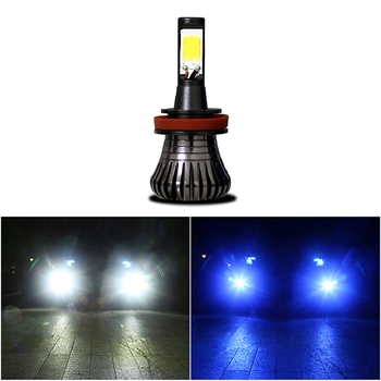 2Pcs Led Fog Lamp COB H11 H8 H9 HB3 HB4 9005 9006 880 881 Driving 6000K White 3000K Amber Yellow Car Fog Lights Bulbs image