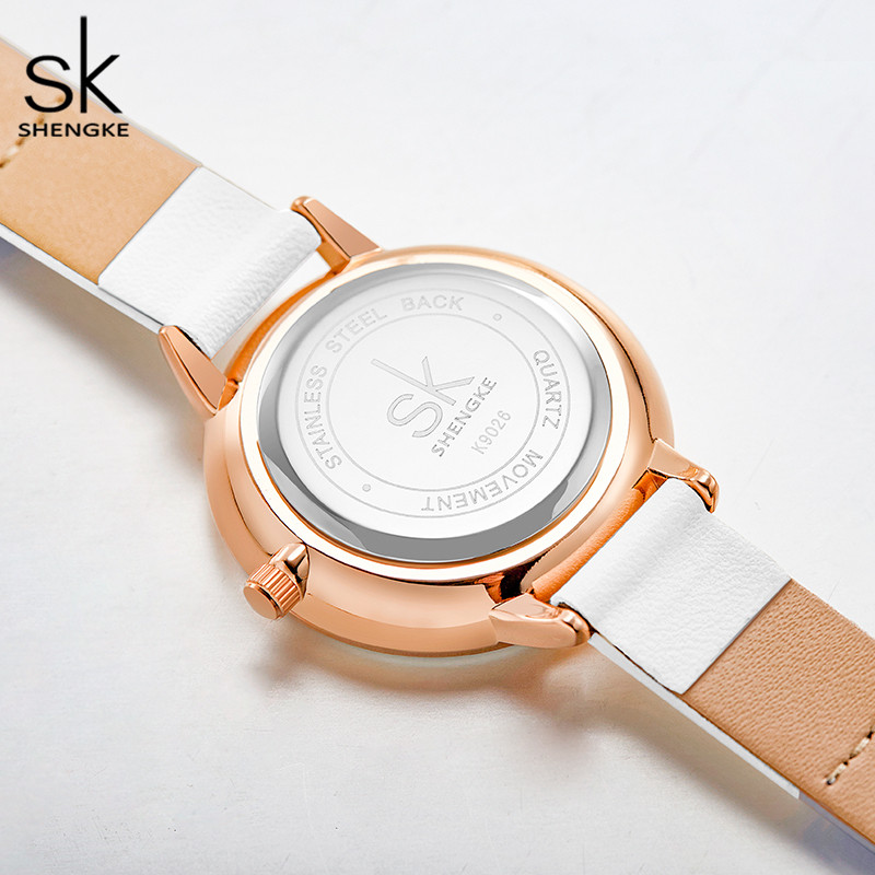 Shengke Splicing Strap Band Women Watch Classical Leather Wristwatch for Women Reloj Mujer Simple Fashion Ladies Watch