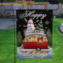 Christmas tree snowman Garden Flags Double Sided Flags Merry Christmas decoration for home Winter Signs Rustic Banner