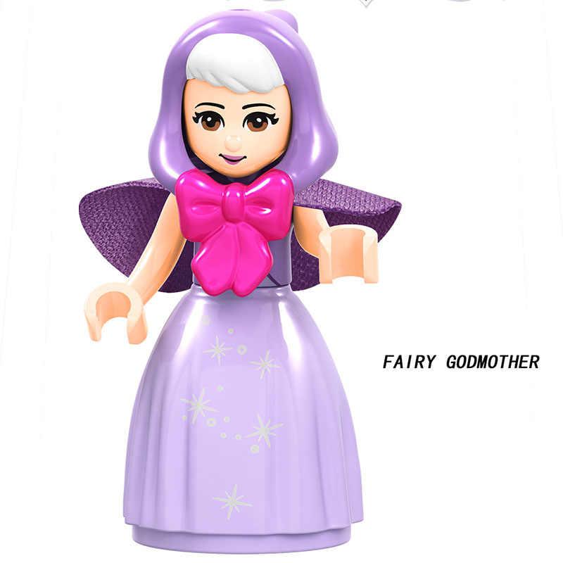 Legoed 友人ためフィギュアシンデレラアンナプリンセスマーメイド獣モデルビルディングブロックキットおもちゃレンガ妖精物語女の子