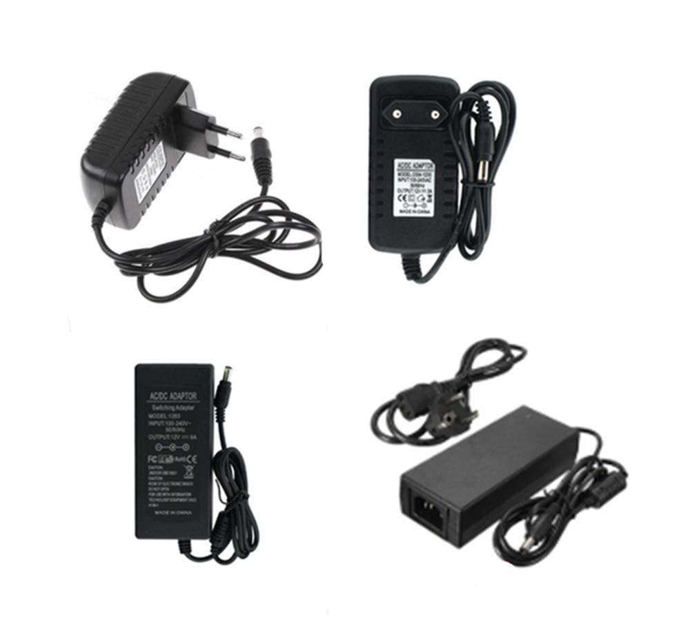 12 В светодиодный адаптер переменного тока 220 В в постоянный ток 12 в источник питания 1A 2A 3A 5A 6A 8A 10A светодиодный трансформатор EU US штекер Свето...