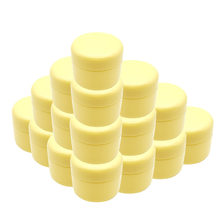 30pcs 10g 20g 30g 50g 100g Refillable Bottles Plastic Empty Makeup Jar Pot Travel Face Cream Lotion Cosmetic Container yellow