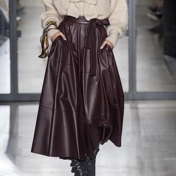 High Waist Skirt - Chicory Coffee - 2 Colors 3