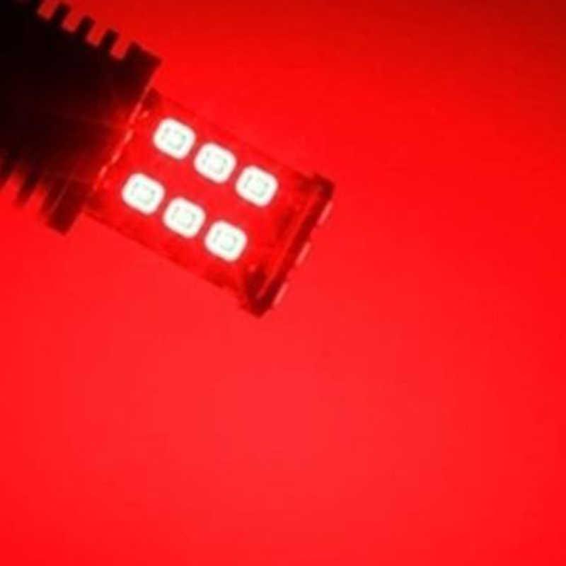 อลูมิเนียมสีแดงรถ 7443 ซ็อกเก็ตหลอดไฟหยุด 15LED 12V Premium