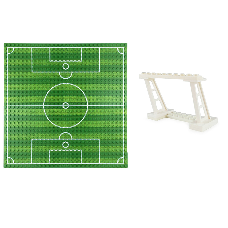 32*32cm football field basketball court floor base plate compatible with Legoed <font><b>baseplate</b></font> toys DIY floor children's toys image