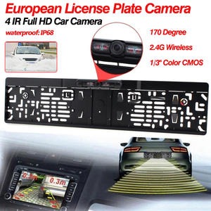 European Car License Plate Frame Auto Number Plate Holder Night Vision Rear View Camera for Reversing Backup Modified Parts