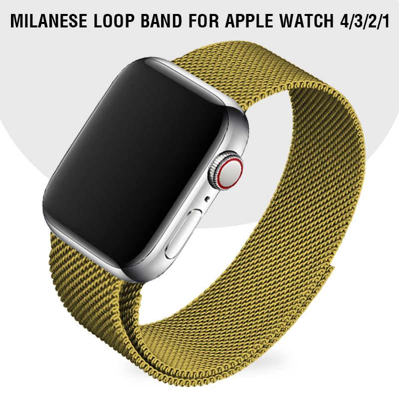 Milanese Loop Band Grass Green Strap For Apple Watch Series 5 4 Stainless Steel Wristband I Watch Series 1 2 3 42 38mm Bracelet