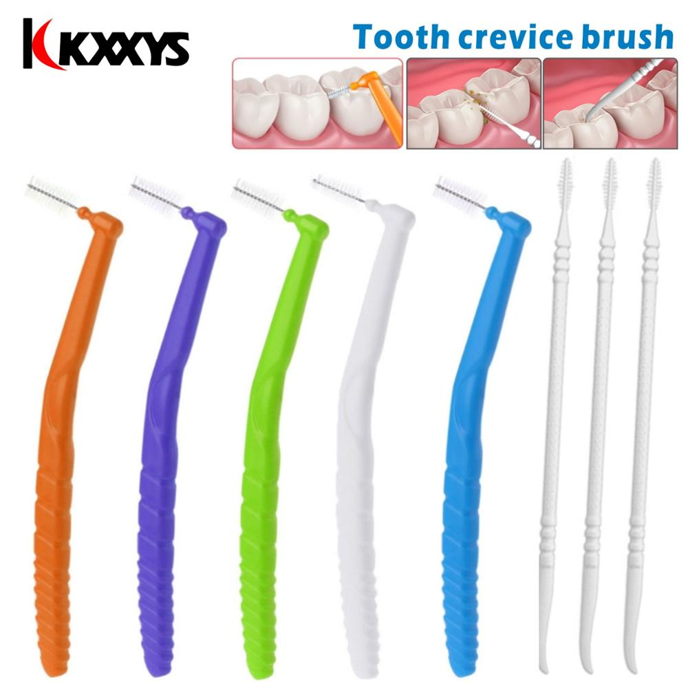 L Shape Push-Pull Interdental Brush Oral Care Teeth Whitening Dental Tooth Pick Tooth Orthodontic Toothpick Picks Plastic