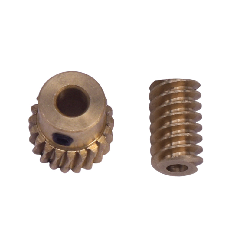 Hot 2Pcs 0.5 Modulus Small Reduction Ratio Of 1:10 Motor Output Copper Worm Wheel Gear For DIY Box