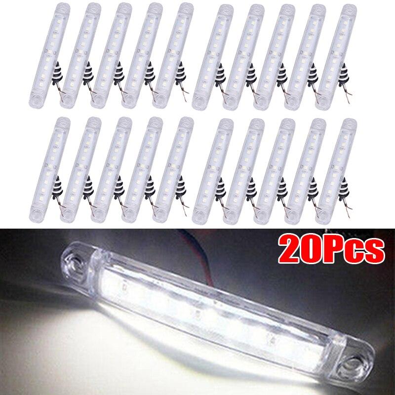 24V светодиодный Белый боковой габаритный светильник, указатель поворота для автомобилей, грузовые автобусы