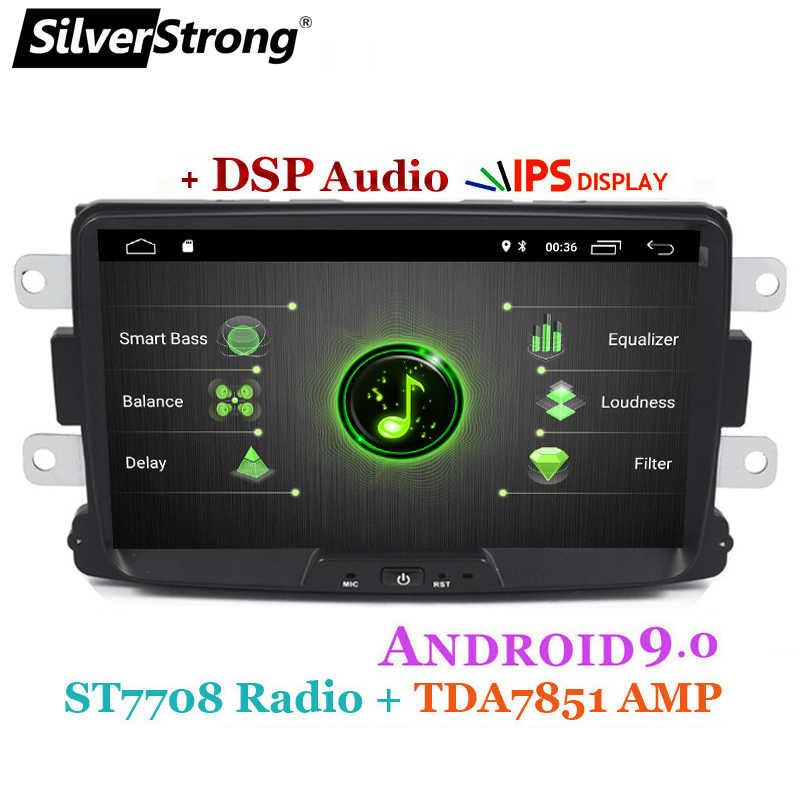 SilverStrong 車マルチメディアプレーヤーアンドロイド 9 Automotivo ラジオ Dacia サンデロダスタールノー Captur Lada Xray 2 Logan