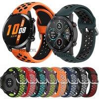 Voor GT2 Band Siliconen Horlogeband Voor Huawei Horloge Gt 2 Gt 46Mm/Gt 2e/Honor Magic Band sport Armband 22Mm Polsbandje Correa