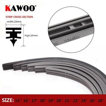 KAWOO 1 sztuk pióro wycieraczki samochodowa paski Vehicle Insert pasek gumowy 14 #8222 16 #8221 17 #8222 18 #8221 19 #8222 20 #8221 21 #8222 22 #8221 24 #8222 26 #8221 28 #8222 10mm FR akcesoria samochodowe tanie i dobre opinie CN (pochodzenie) FRONT Natural rubber 2017 Rok HD Clean Iso9000 KW-XJ1426-0110 1 4cm Black 14 16 17 18 19 20 21 22 22 24 26 28
