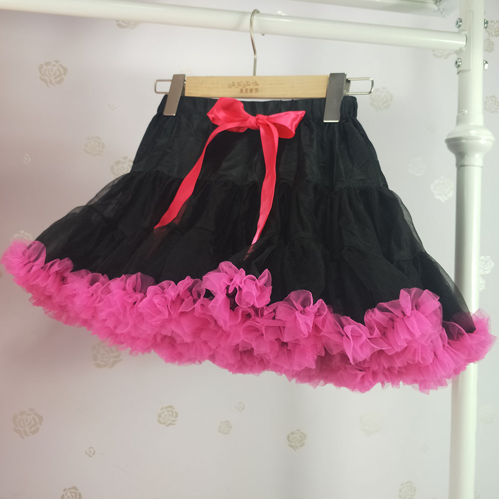 Детская юбка-пачка для девочек; пышная юбка-американка; распродажа - Цвет: Черный