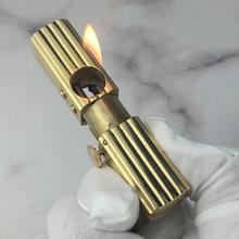 Латунная Автоматическая Зажигалка для зажигания винтажная зажигалка