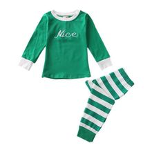 hilittlekids Winter Baby Girl Clothes Set Christmas Boys Sleepwear Children 2 PCs/Suits Outfit Pajamas Xmas Gifts