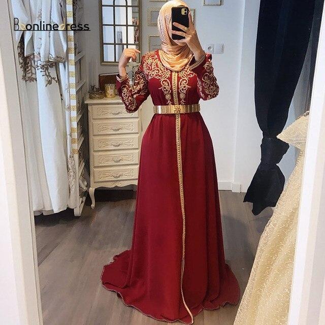 فستان سهرة بقفطان مغربي بأكمام طويلة وياقة عالية مطرز طويل عربي مسلم فستان رسمي رداء de soiree 3