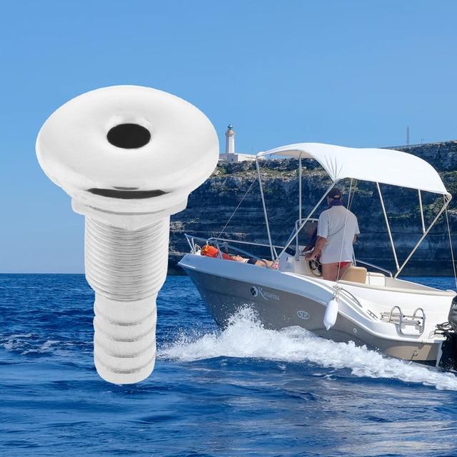 1 Chiếc 1/2 Inch Mềm Cao Cấp Thép Không Gỉ 316 Trắng Thru Thân Tàu Bilge Pump Và Máy Sục Khí Vòi Lắp cho Tàu Thuyền Du Thuyền Kayak .. V .. V