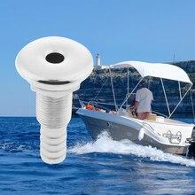 1 pces 1/2 Polegada marinha grau 316 aço inoxidável branco através da bomba de porão do casco e mangueira do aerador montagem para barcos iate caiaque etc
