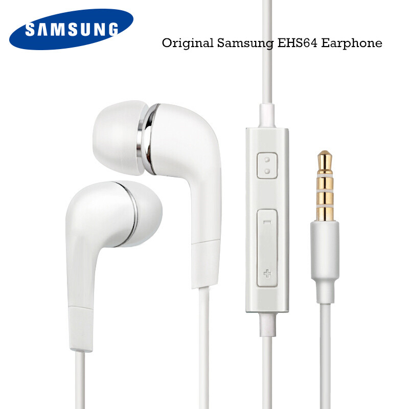 Original Samsung 3.5mm In-Ear Earphones <font><b>EHS64</b></font> Built-in Microphone Wired headset For Galaxy S10 S9 S8 Plus S10e A30 A50 A60 A70 image