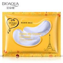 Bioaqua Crystal Collagen Eye Mask 2pcs/pair Anti-Aging Face Care Sleeping Patches Eliminates Dark Circles Hydro-Gel