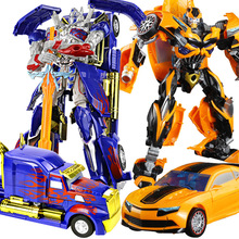 35CM Transformation Toys Robot Series Optimus Prime Hornets Model Action Toys ABS Alloy Deformation Robot Toy Children's Gifts alloy robot transformation car toys alloy deformation p olice robot bus toy for kids children birthday christmas gift