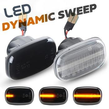 цена на 2x LED dynamic side turn signal blinker lights for Toyota Celica T20 T23 Avensis RAV4 Vios Prius Yaris Probox Supra MK4 Starlet
