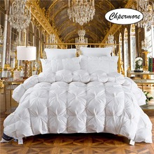 Chpermore Hot Sale 100 % White Goose/Duck Down Comforters Five-star hotel Thick warm Winter Quilt Duvets 100% Cotton Cover