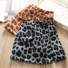 Детская одежда, леопардовая юбка, модная зимняя юбка-трапеция для девочек
