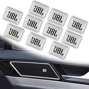 10pcs Car-Styling JBL Badge Emblem Audio decorate Sticker For Audi a3 a4 a5 a6 a7 a8 q3 q5 b5 b6 b7 b8 c6 c7 c8 8v 8p Accessorie(China)