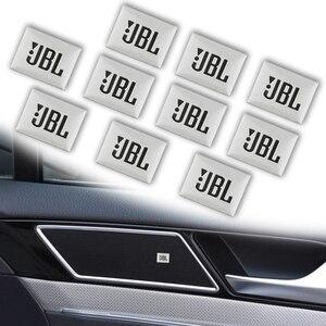 10pcs Car-Styling JBL Badge Emblem Audio decorate Sticker For Honda Civic Accord CR-V XR-V HR-V Vezel Odyssey City Accessories(China)