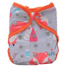[Simfamily] 1pc lavável ajustável pano fralda capa dupla gusset pull bebê fralda terno 3-15kgs