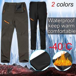 Trousers Pant Snowboard Velvet Snow-Ski Soft Autumn Outdoor-40-Degree Winter Plus Men