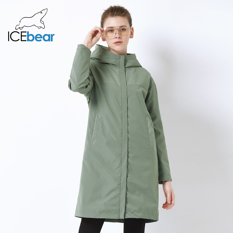 ICEbear 2019 Autumn New Ladies Windbreaker Loose Fashion Casual Windbreaker High Quality Brand Women's GWF19001I