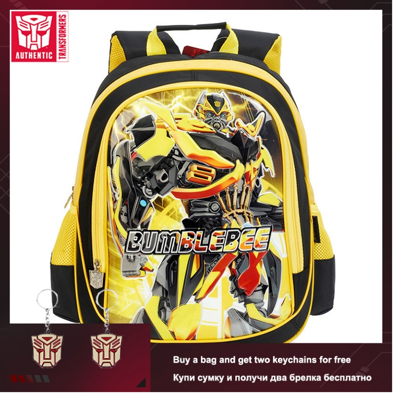 TRANSFORMERS New Children's Backpack Primary Schoolbag Polyester Waterproof Backpack Suitable For 6-16 Years Old Schoolbag