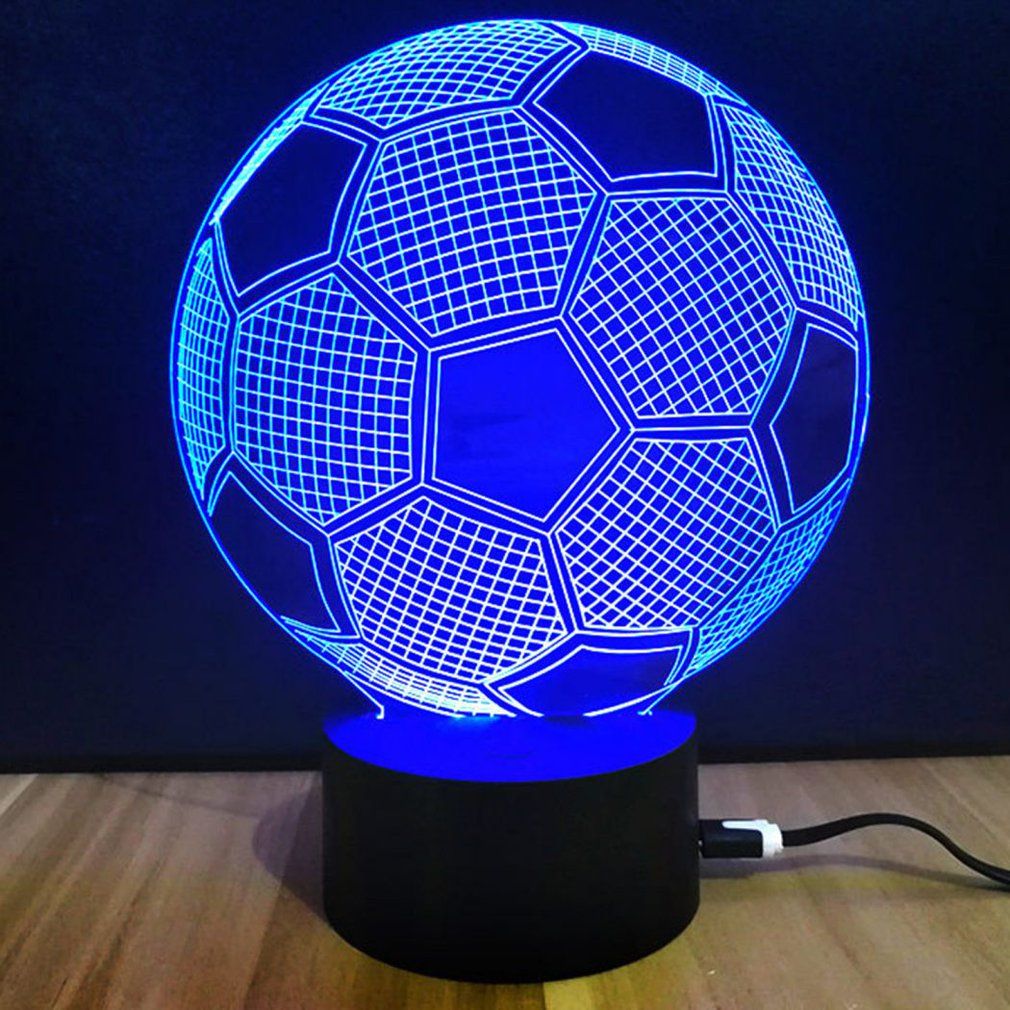 Souvenir Gift Colorful Touch Switch Table Desk Light 3D Acrylic LED Night Light Lamp Acrylic Atmosphere Light for Football Fan image
