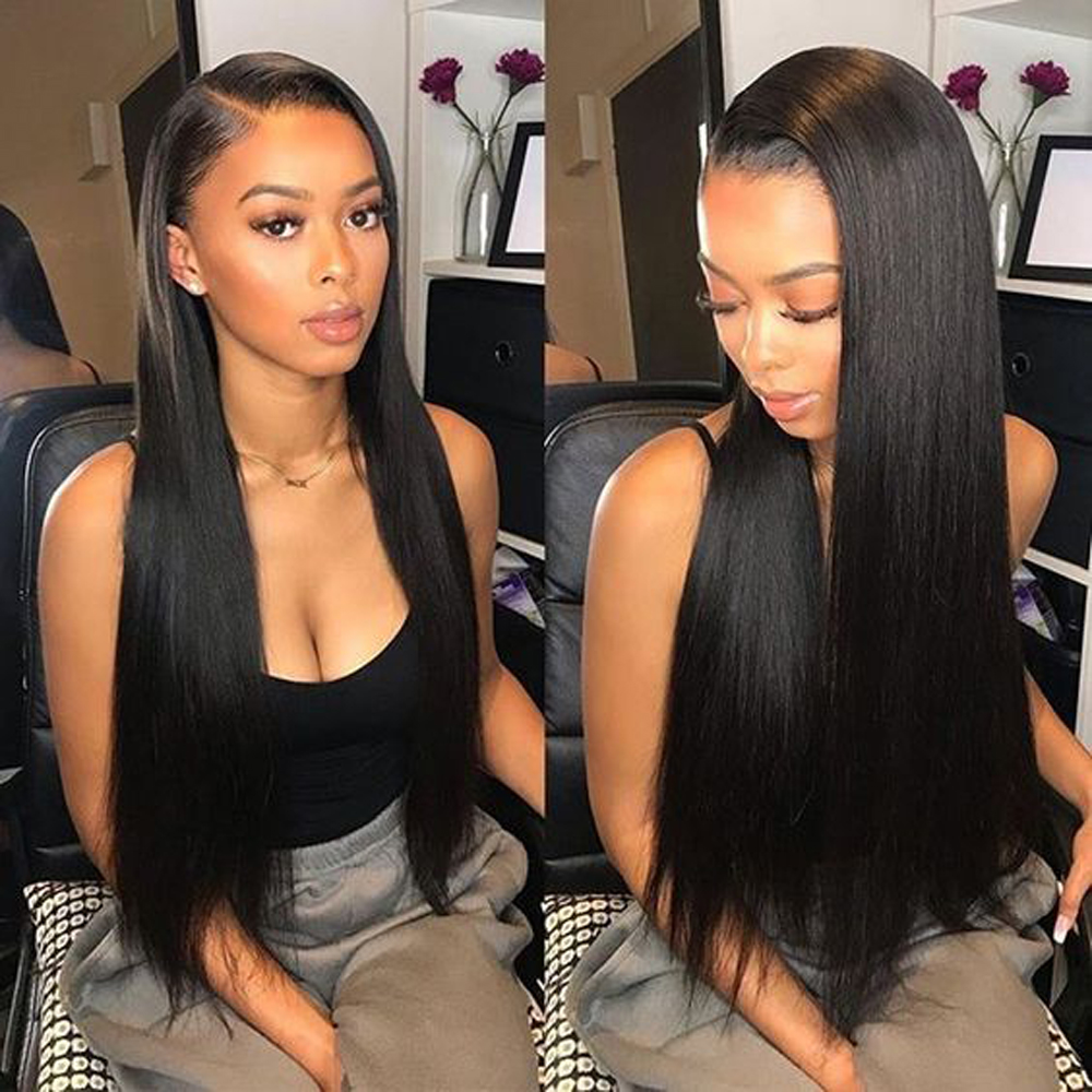 BEAUDIVA Pre-Colored Human Hair Weave Peruvian Straight Hair Medium Brown 4# Color 10-24inch Hair Bundles 3pcs/lot Peruvian Hair
